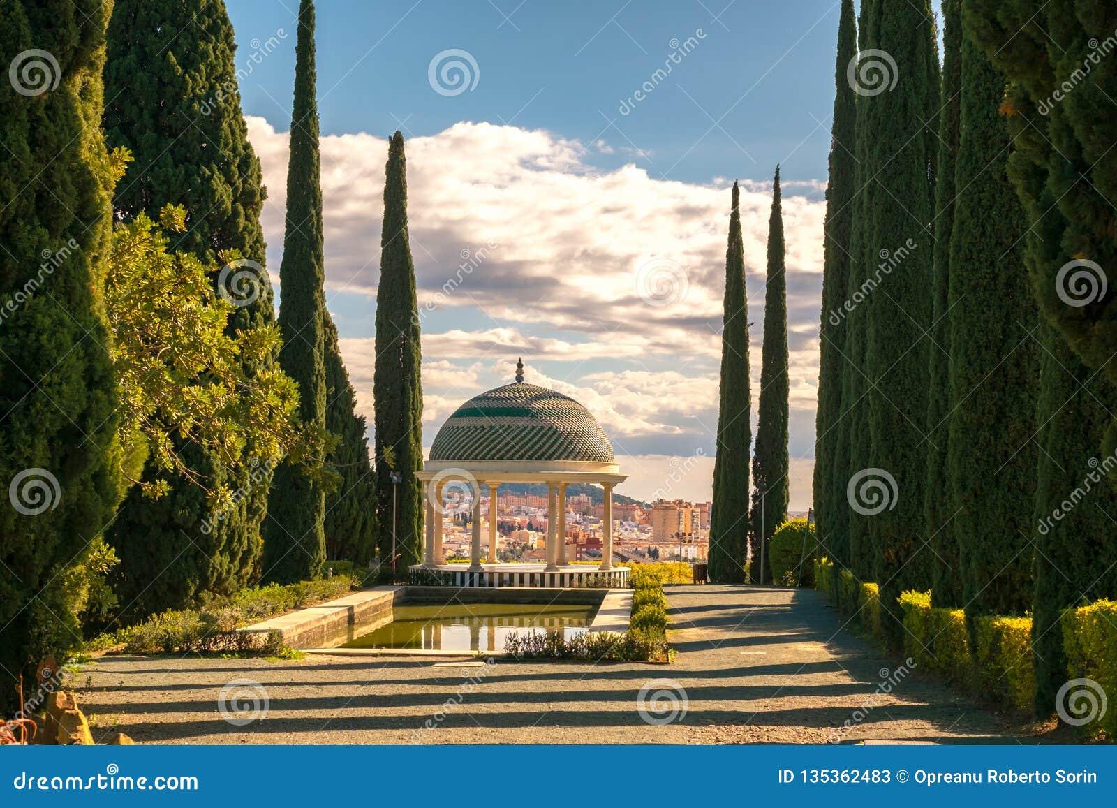 Miradouro histórico, jardim da concepção, la Concepción do jardin em Malaga, Espanha