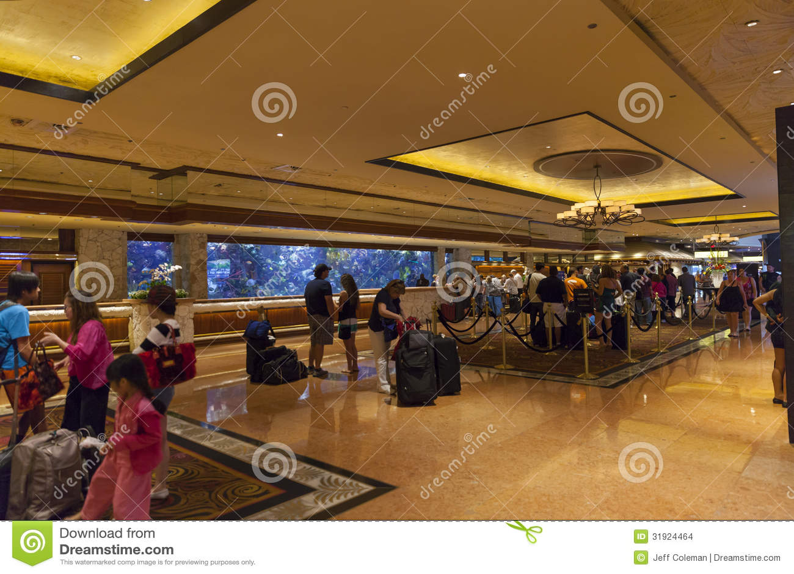 Mirage Hotel Lobby In Las Vegas Nv On June 26 2013