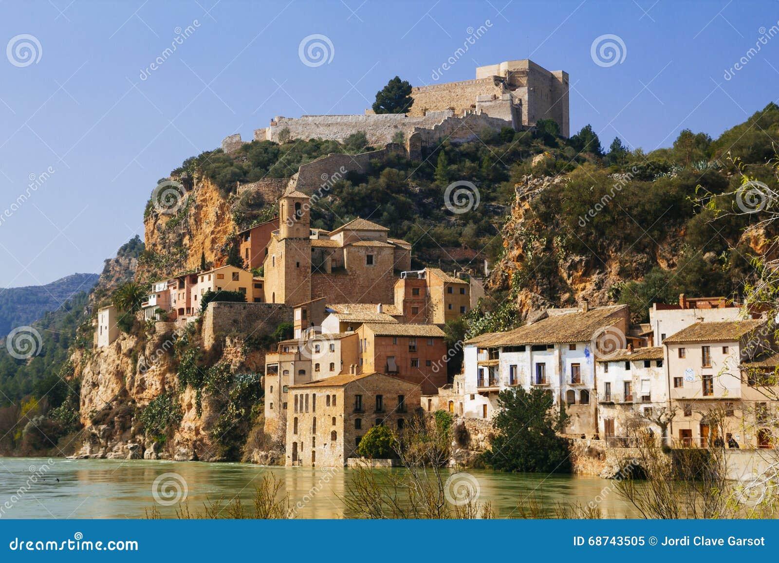 Miravet Village Catalunya Spain Old Little Located Middle Terres De L Ebre Beautiful Landscape