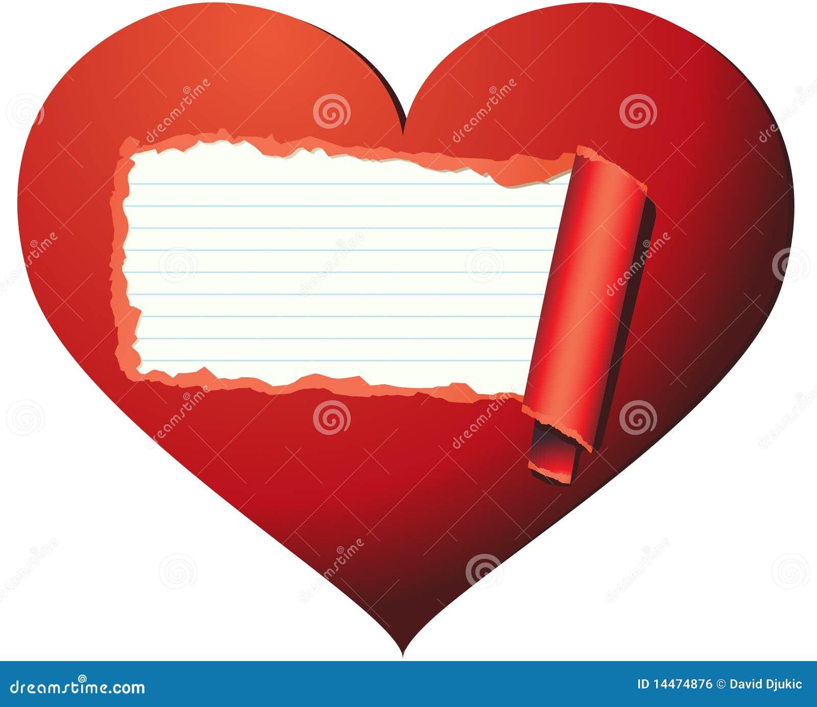 Mire Dentro De Un Corazón Cariñoso Ilustración Del Vector