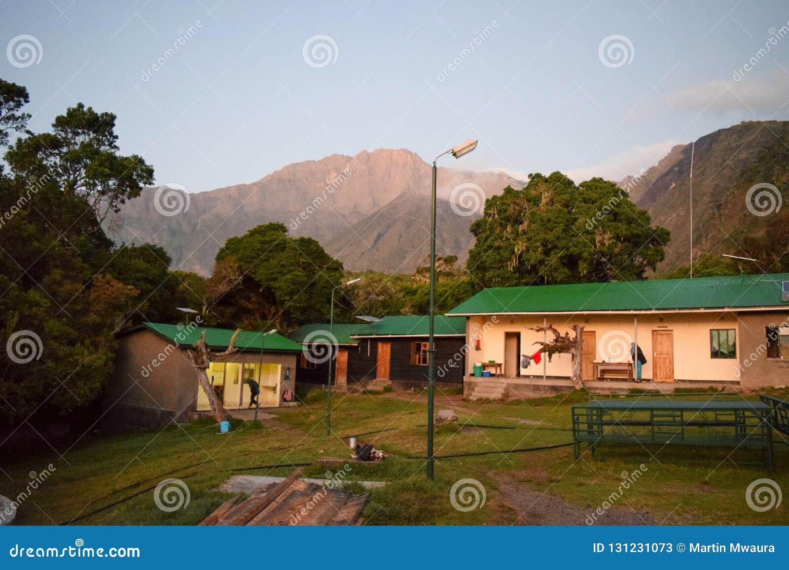 Miriakamba Hut, Mount Meru, Arusha National Park, Tanzania
