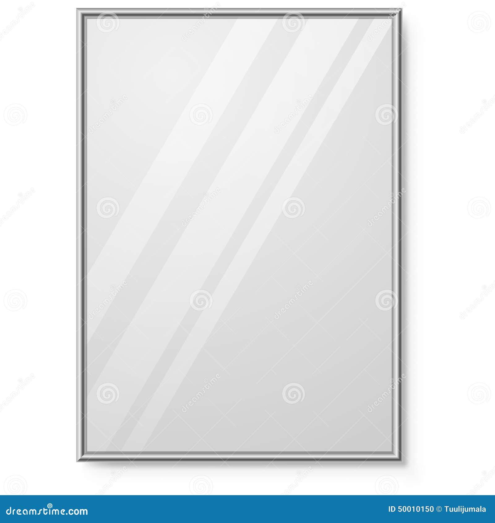 Miroir avec le cadre de chrome illustration de vecteur for Miroir noir download