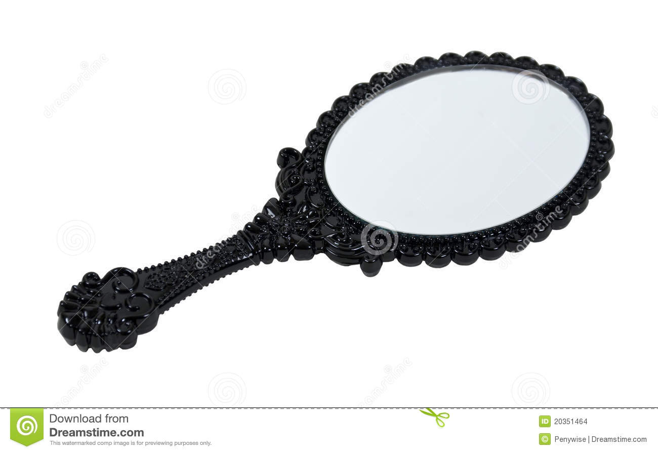 Miroir de main compliqu noir images stock image 20351464 for Miroir noir download