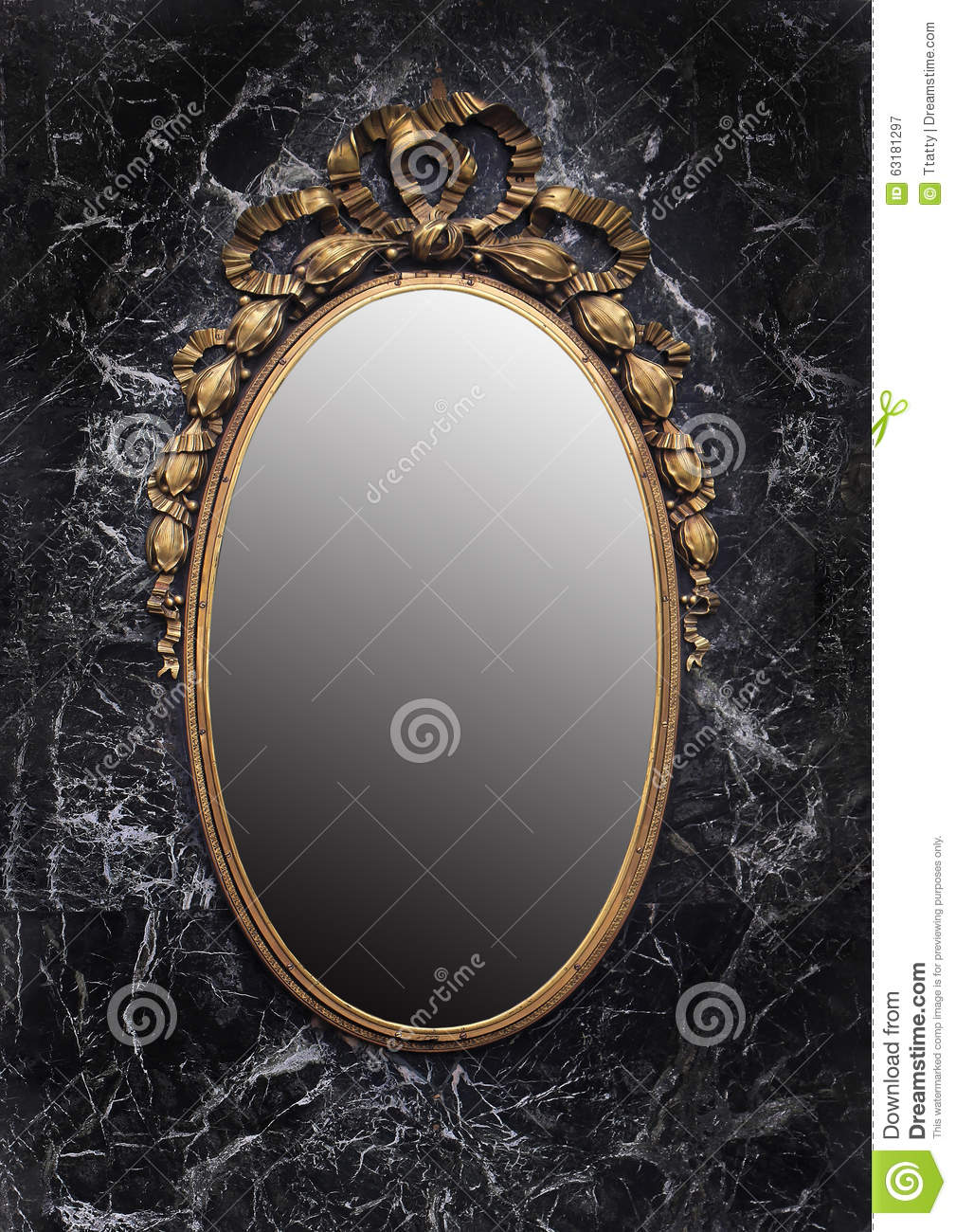 Miroir enchant photo stock image 63181297 for Miroir noir download