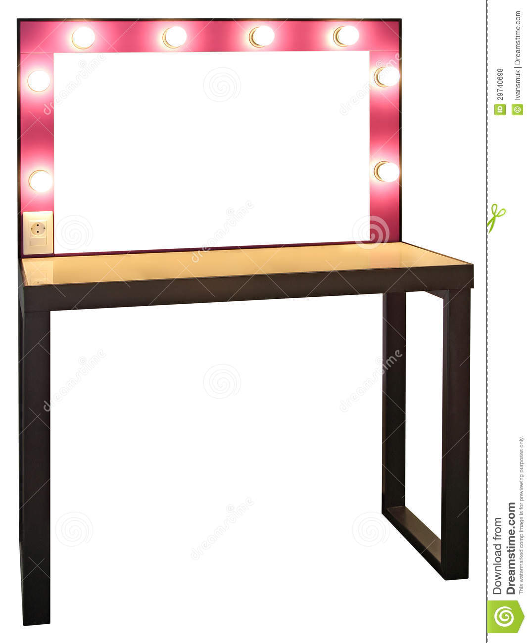 Table de maquillage photo stock image du cr ateur - Table de maquillage conforama ...