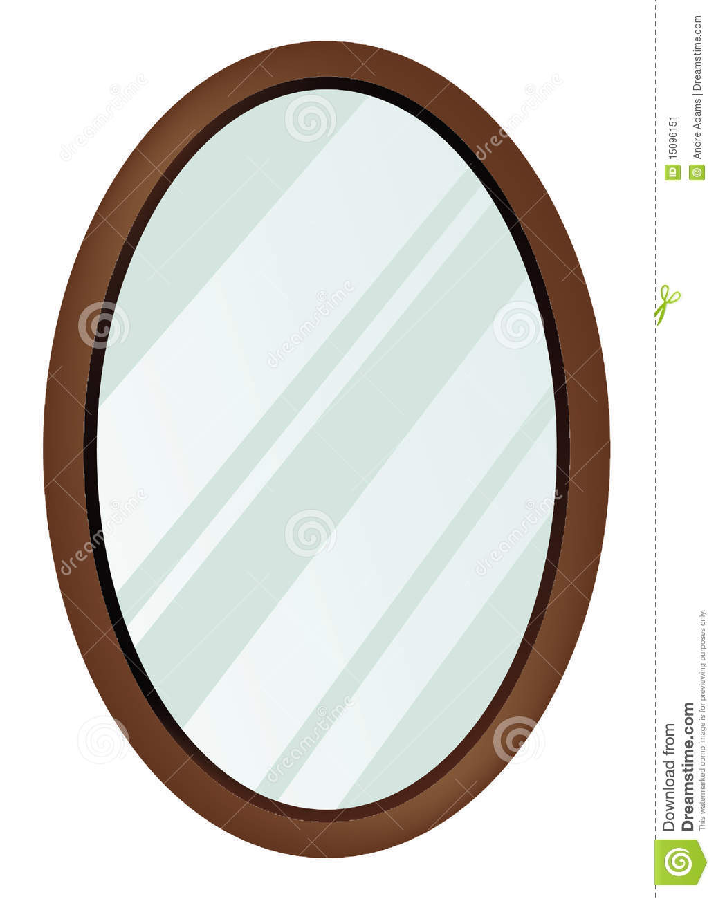 Miroir ovale illustration de vecteur illustration du for Dessin miroir bris
