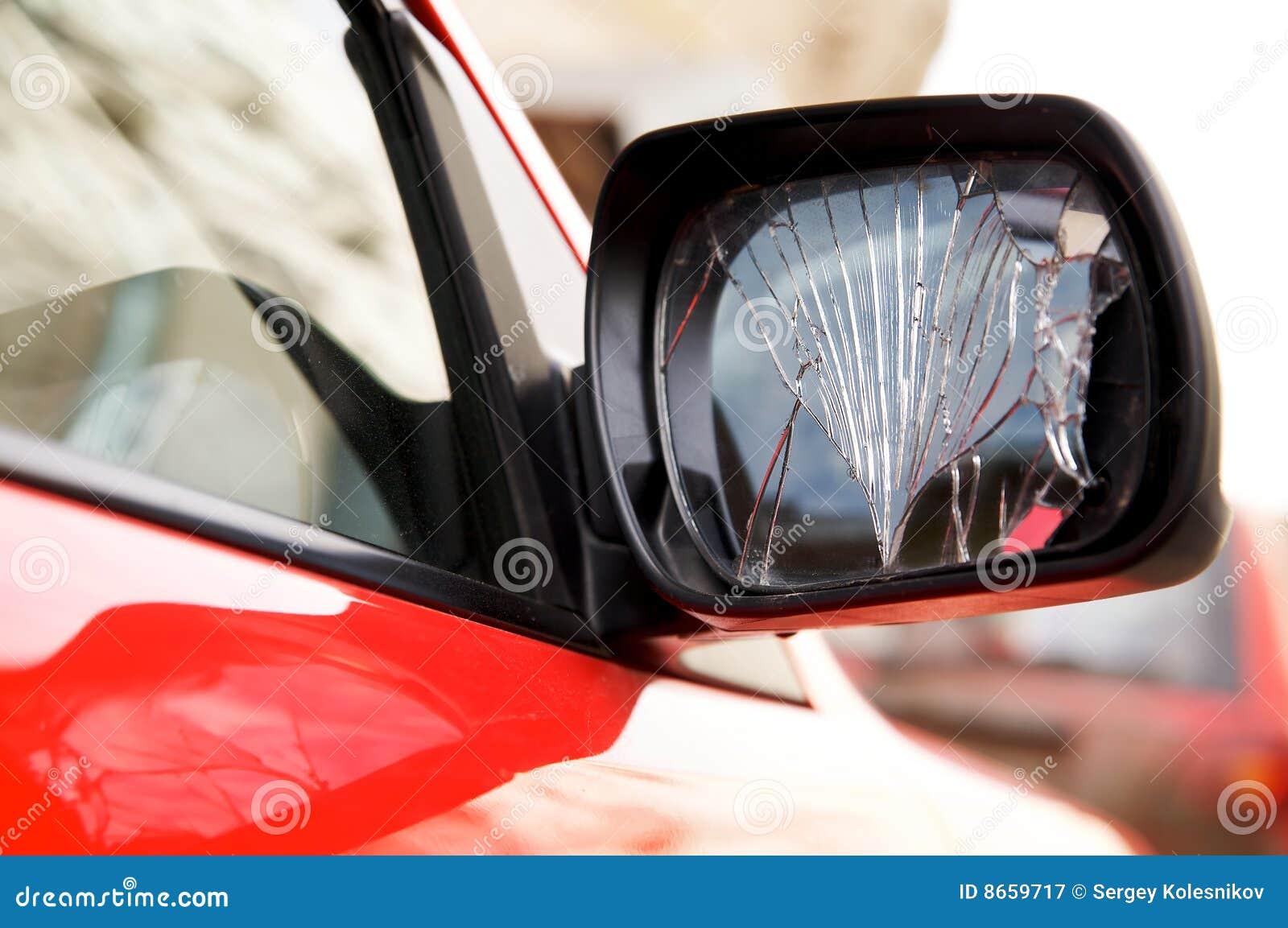 Miroir rétroviseur criqué