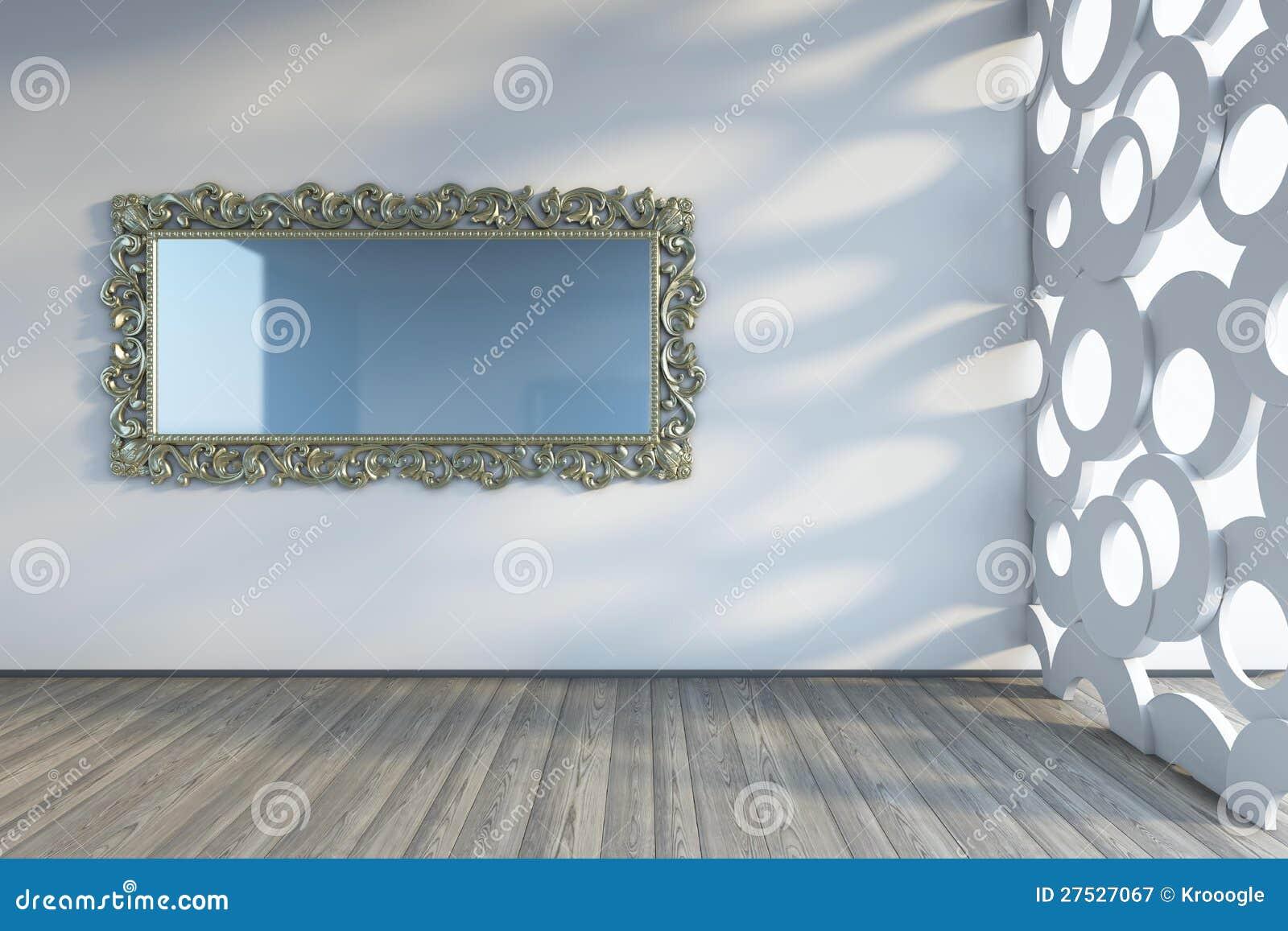 miroir sur le mur photographie stock libre de droits image 27527067. Black Bedroom Furniture Sets. Home Design Ideas