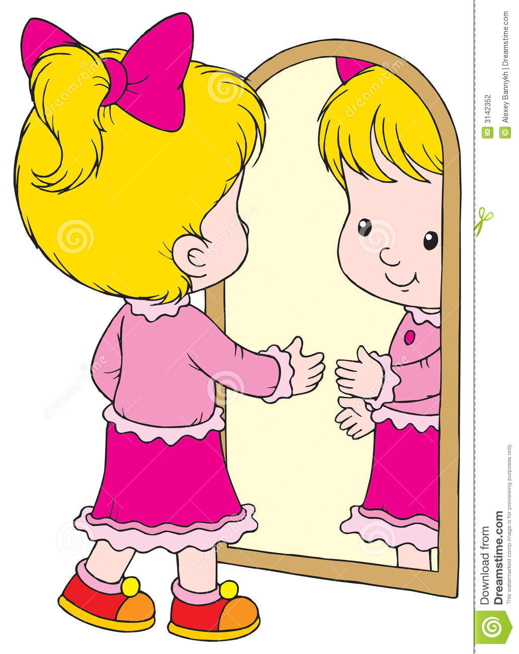 child looking in mirror clipart. royalty-free stock photo child looking in mirror clipart dreamstime.com