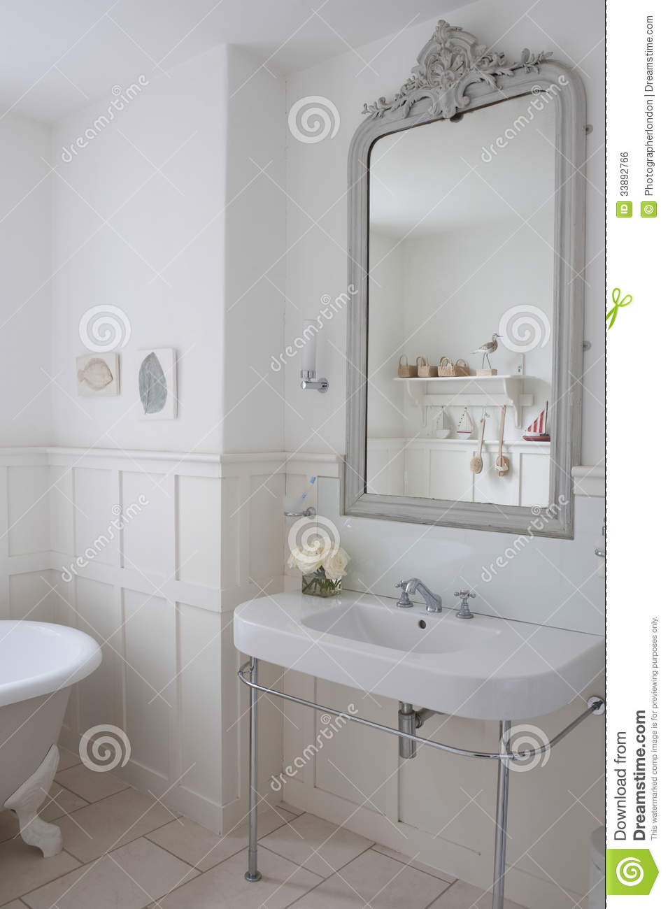 Bathroom Gray Mirror Sink