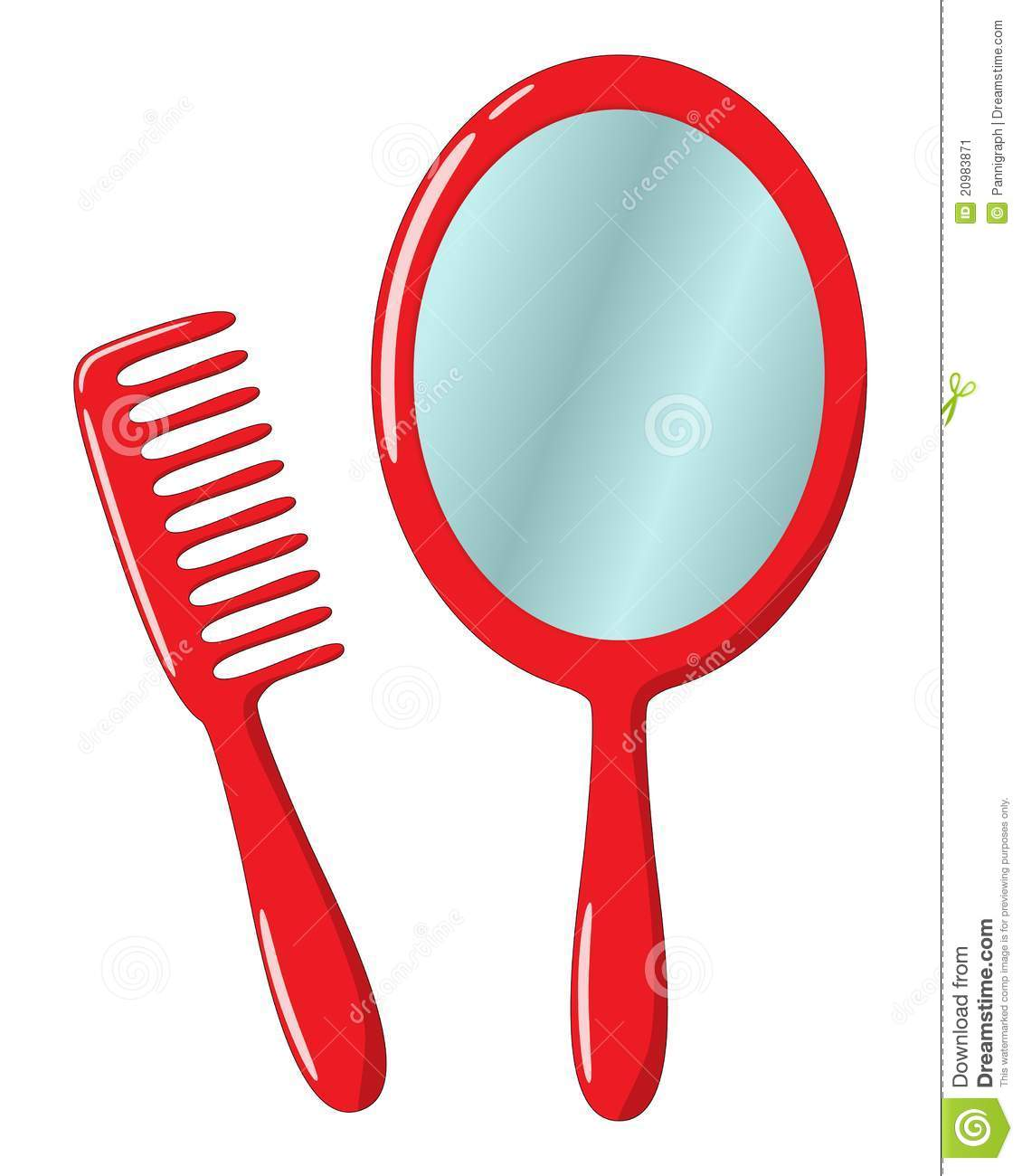 Mirror And Comb Stock Illustration Image Of Graphic