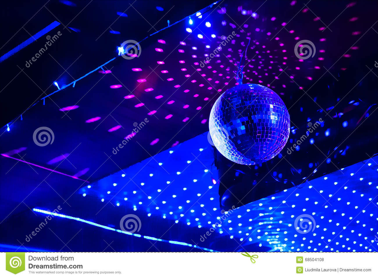 Mirror disco ball with light reflection on the ceiling stock photo download mirror disco ball with light reflection on the ceiling stock photo image of light aloadofball Choice Image