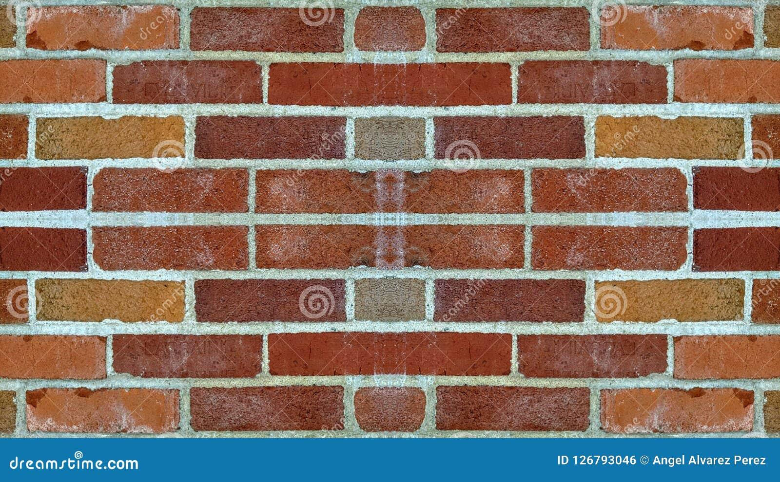Mirror effect on a brick wall