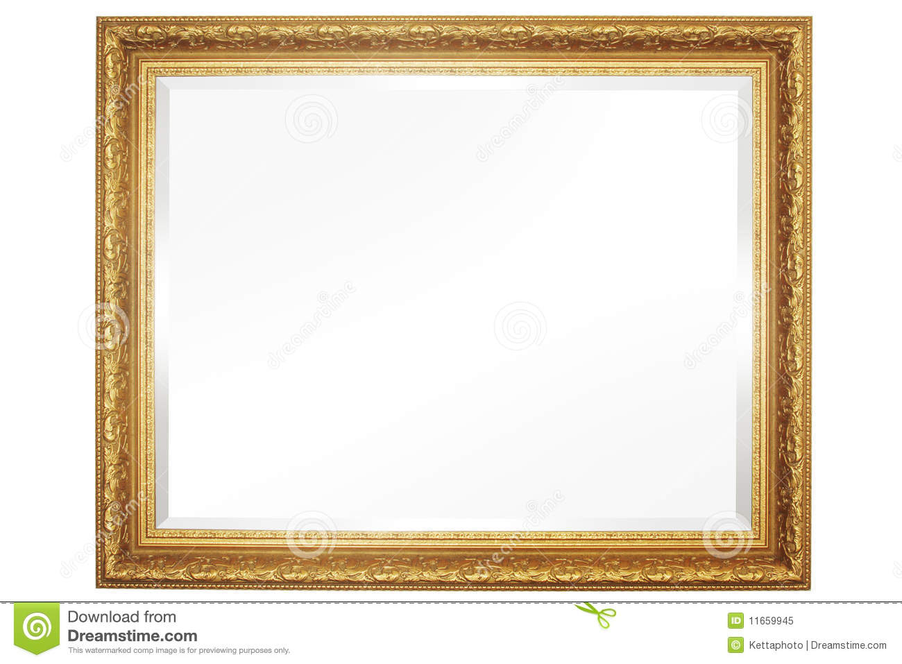 Mirror With Frame stock image. Image of gold, empty, fashioned ...