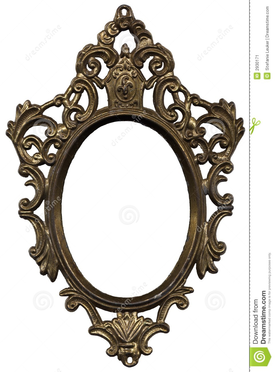 Mirror Frame Stock Image Image Of Portrait Golden Oval