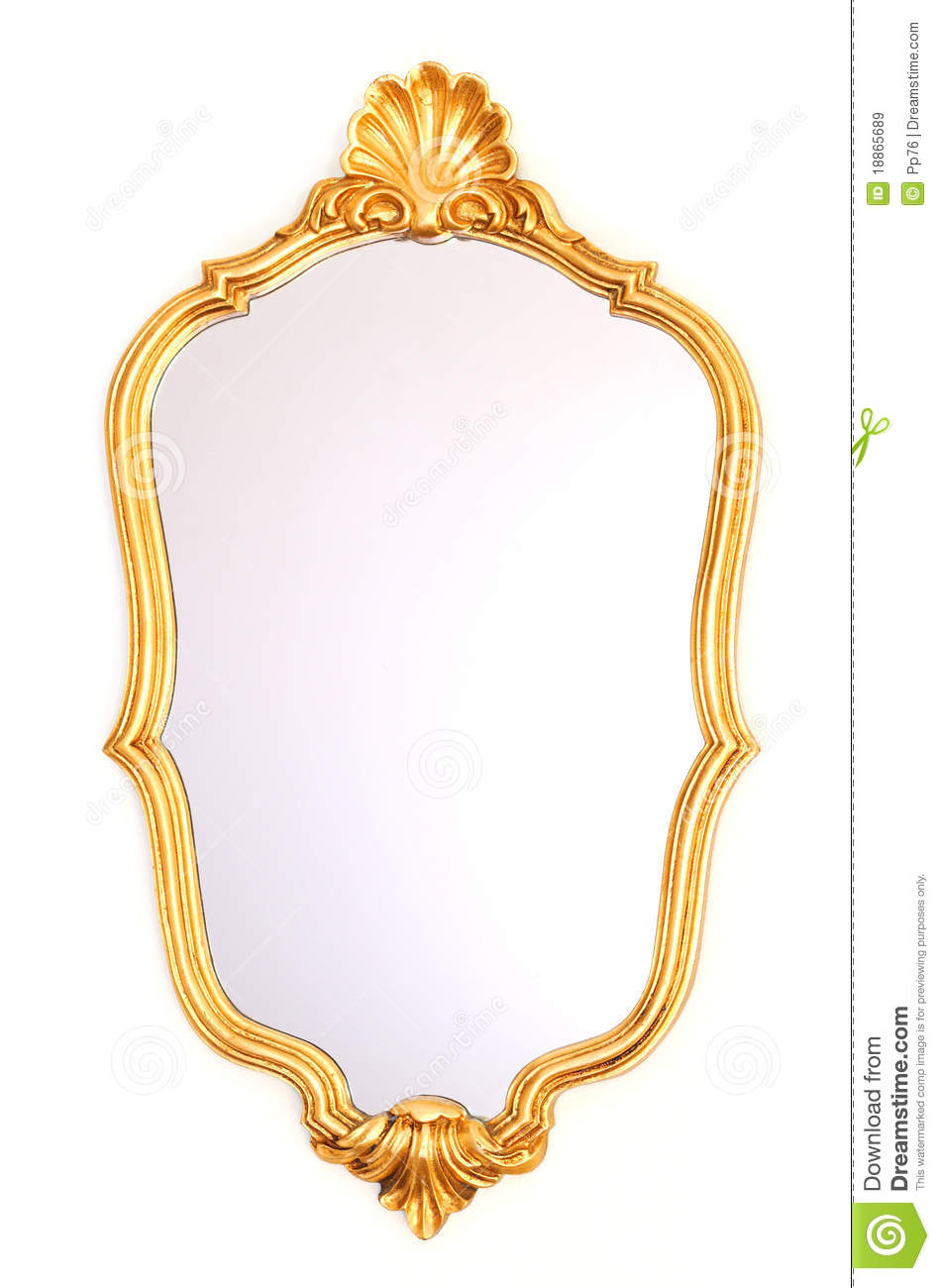 Mirror Gold Frame Royalty Free Stock Images - Image: 18865689