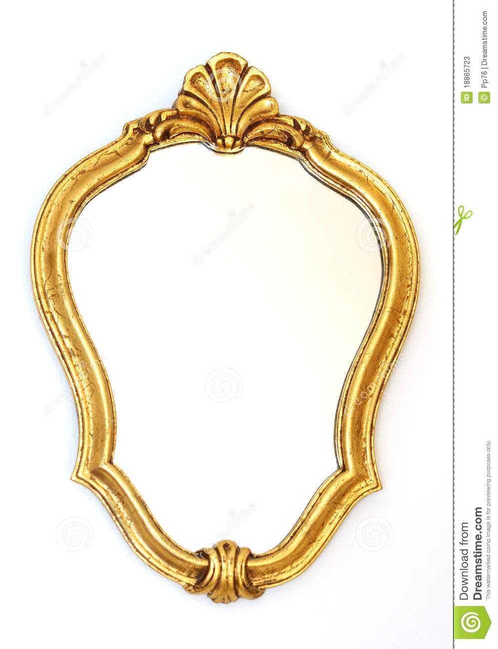 Mirror Gold Frame Stock Photos Image 18865723