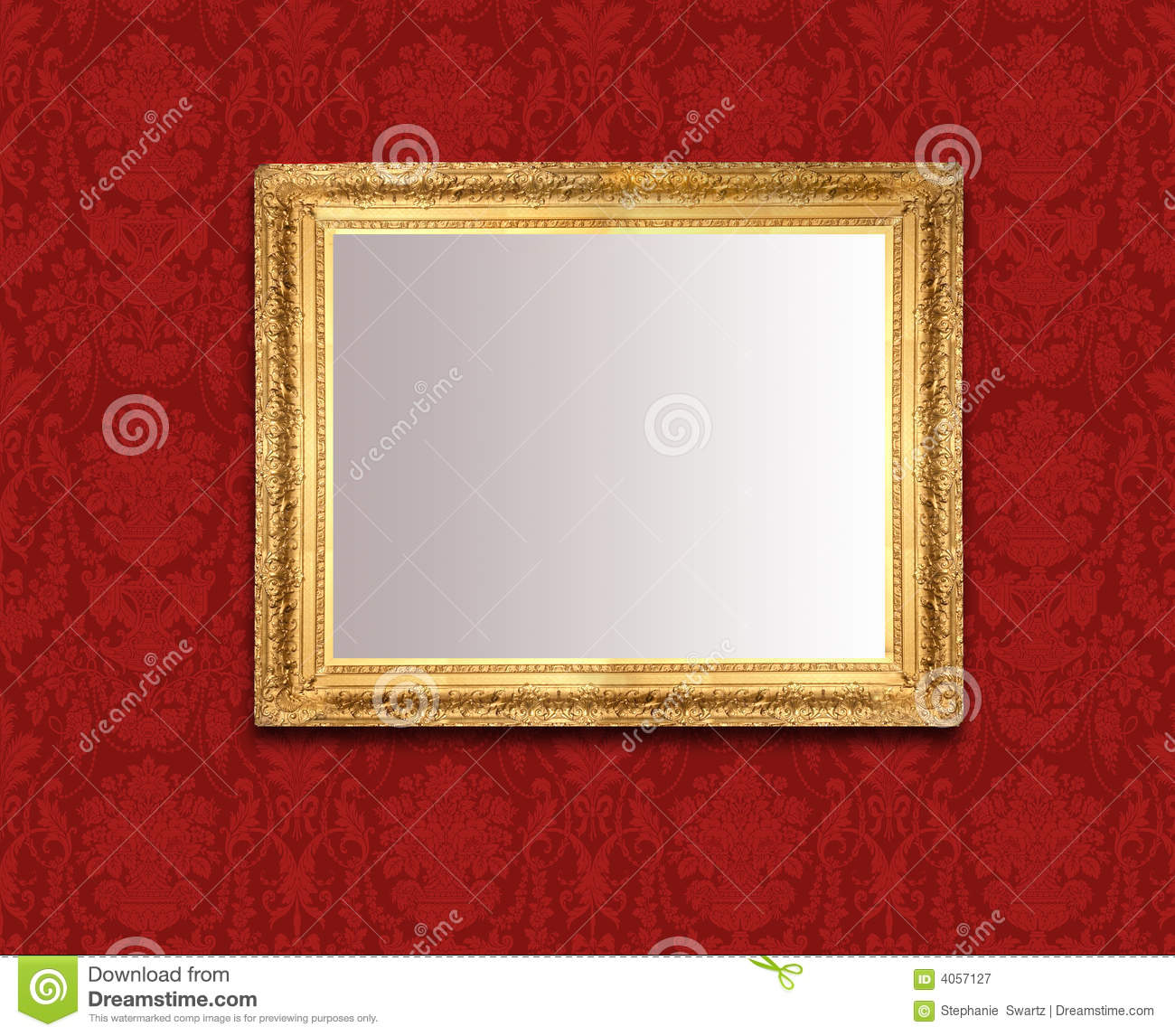 Red Wall Mirror mirror on red wall royalty free stock photography - image: 4057127