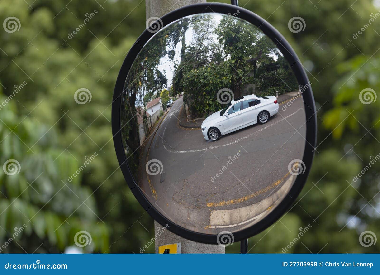 Mirror Road Blind Corner Vehicle Editorial Stock Photo