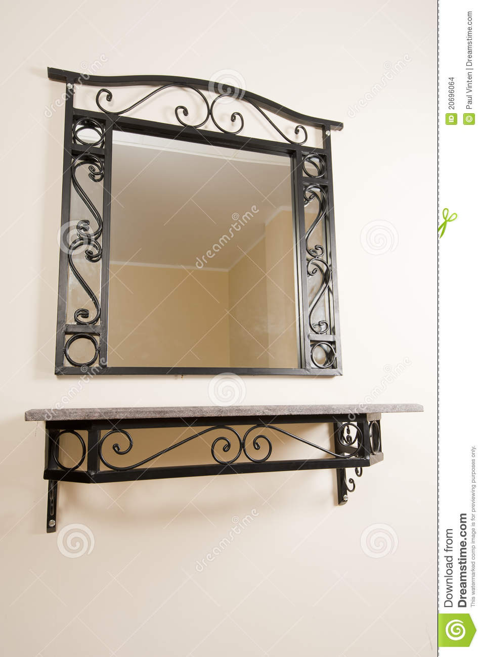 Mirror and shelf on a wall stock photo image of mirror 20696064 royalty free stock photo download mirror and shelf on a wall amipublicfo Image collections