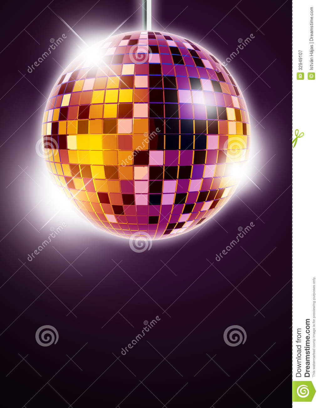 Mirrorball Disco Background Royalty Free Stock Photography ...