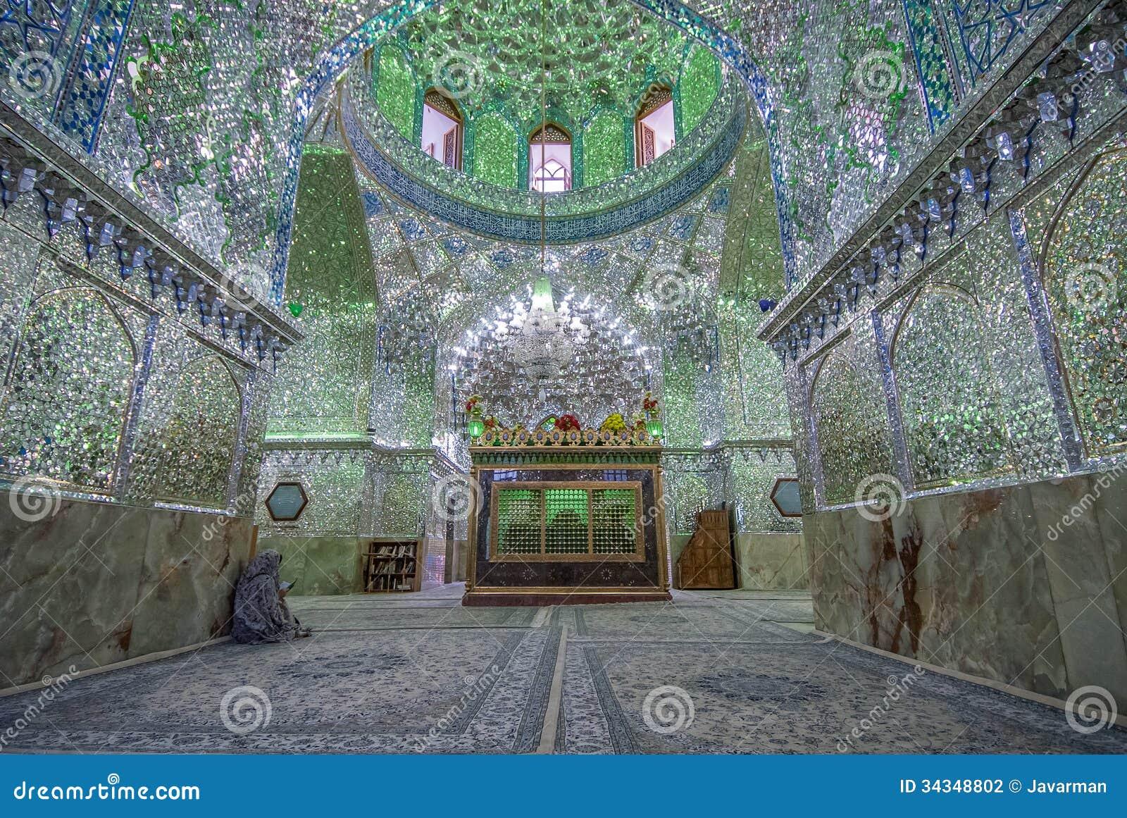 Mirrored Interior Of Ali Ibn Hamza Shrine In Shiraz, Iran ...