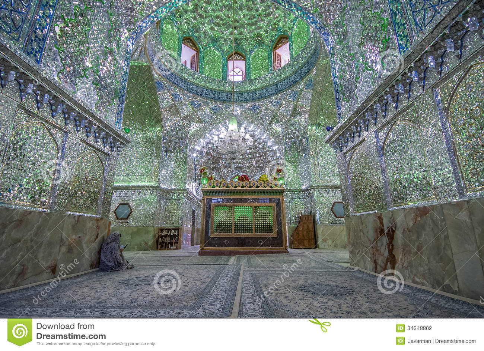 Stock Photography: Mirrored interior of Ali Ibn Hamza shrine in Shiraz ...