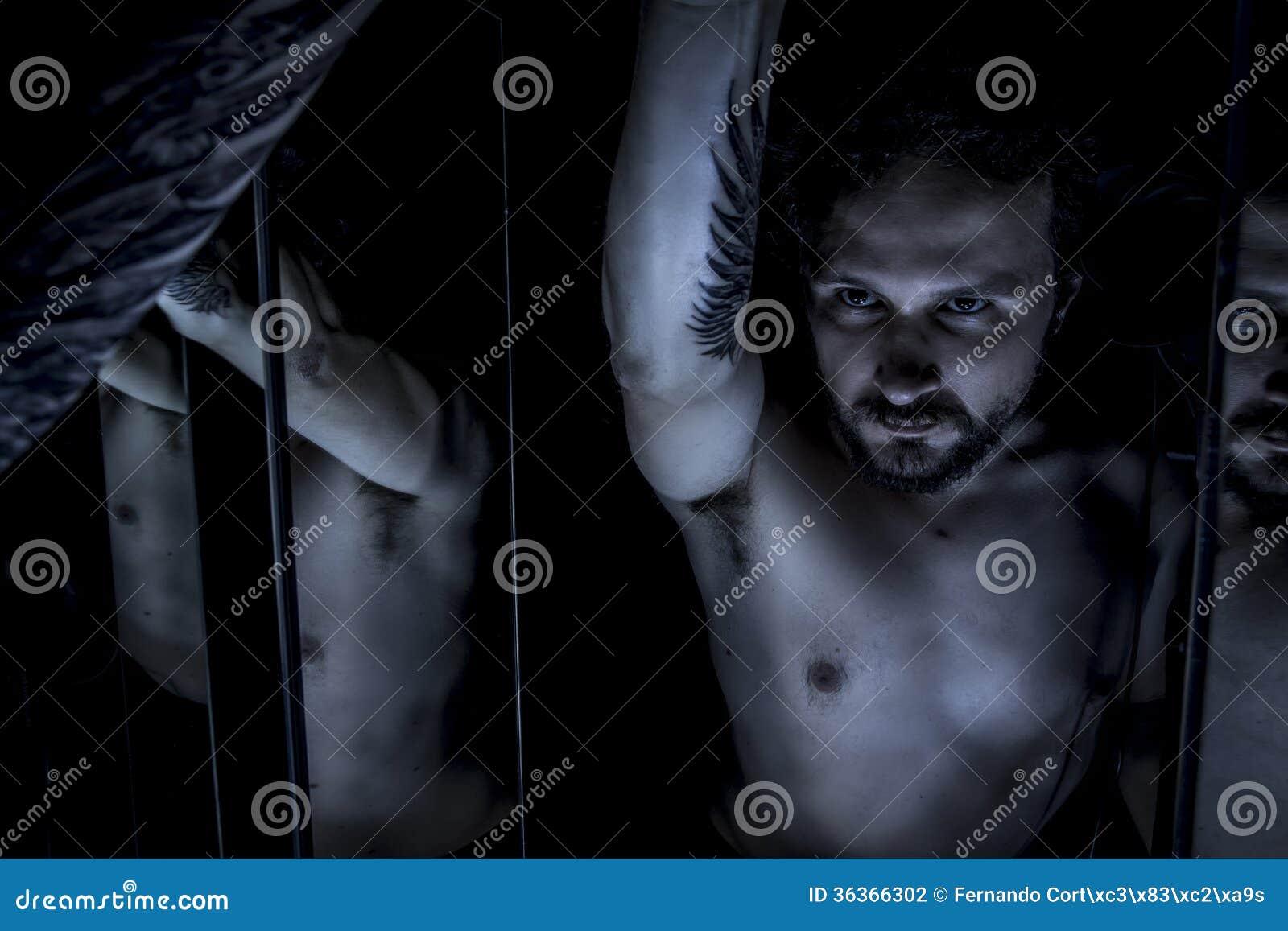 Mirrors, Male model, evil, blind, fallen angel of death