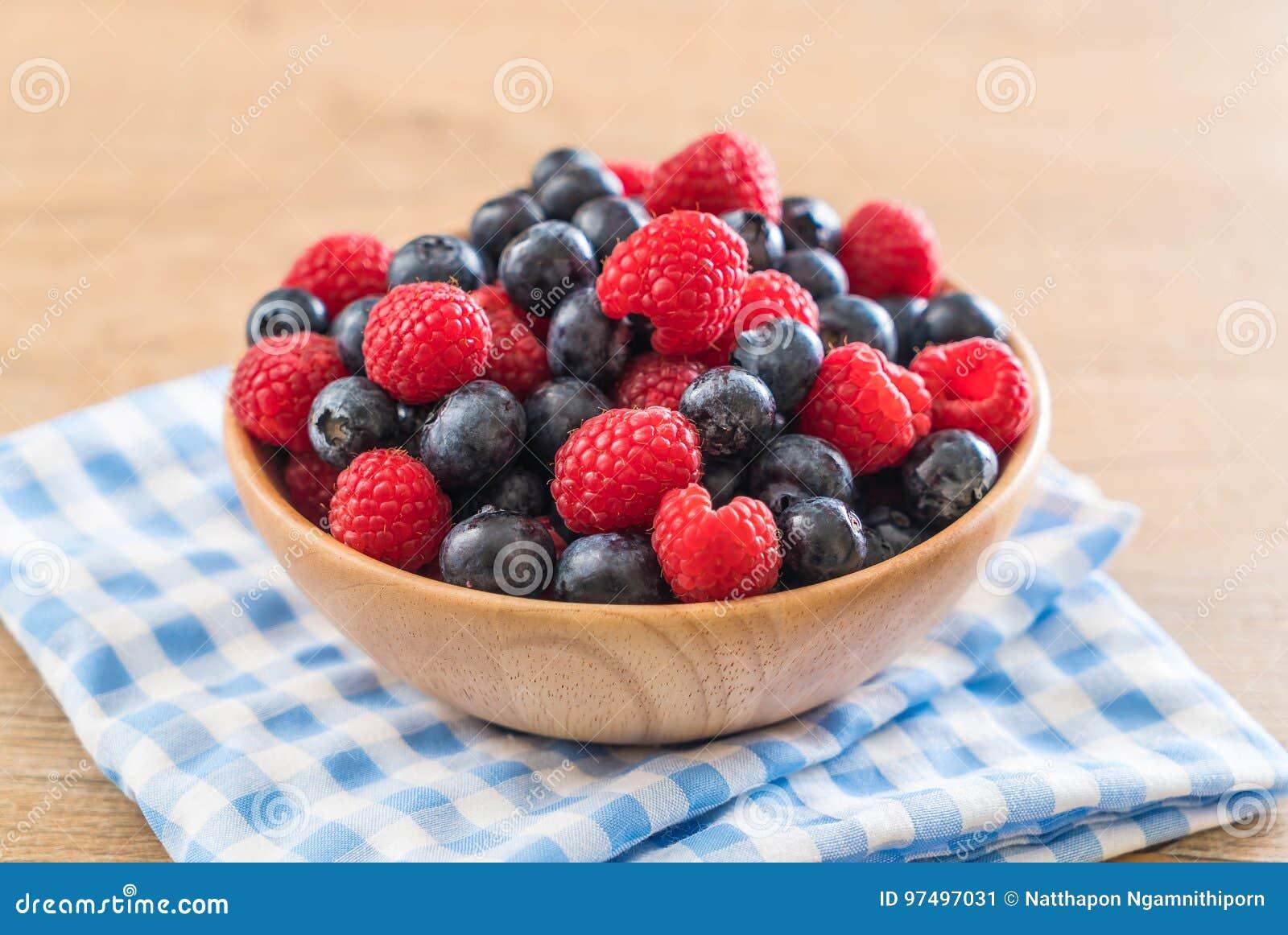 Mirtillo e rasberry freschi