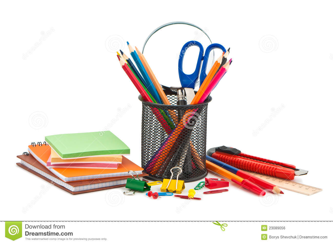 Miscellaneous office supplies royalty free stock image for Free online office design tool
