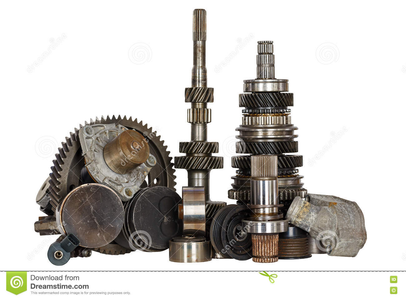 Miscellaneous Used Car Parts Stock Image Of