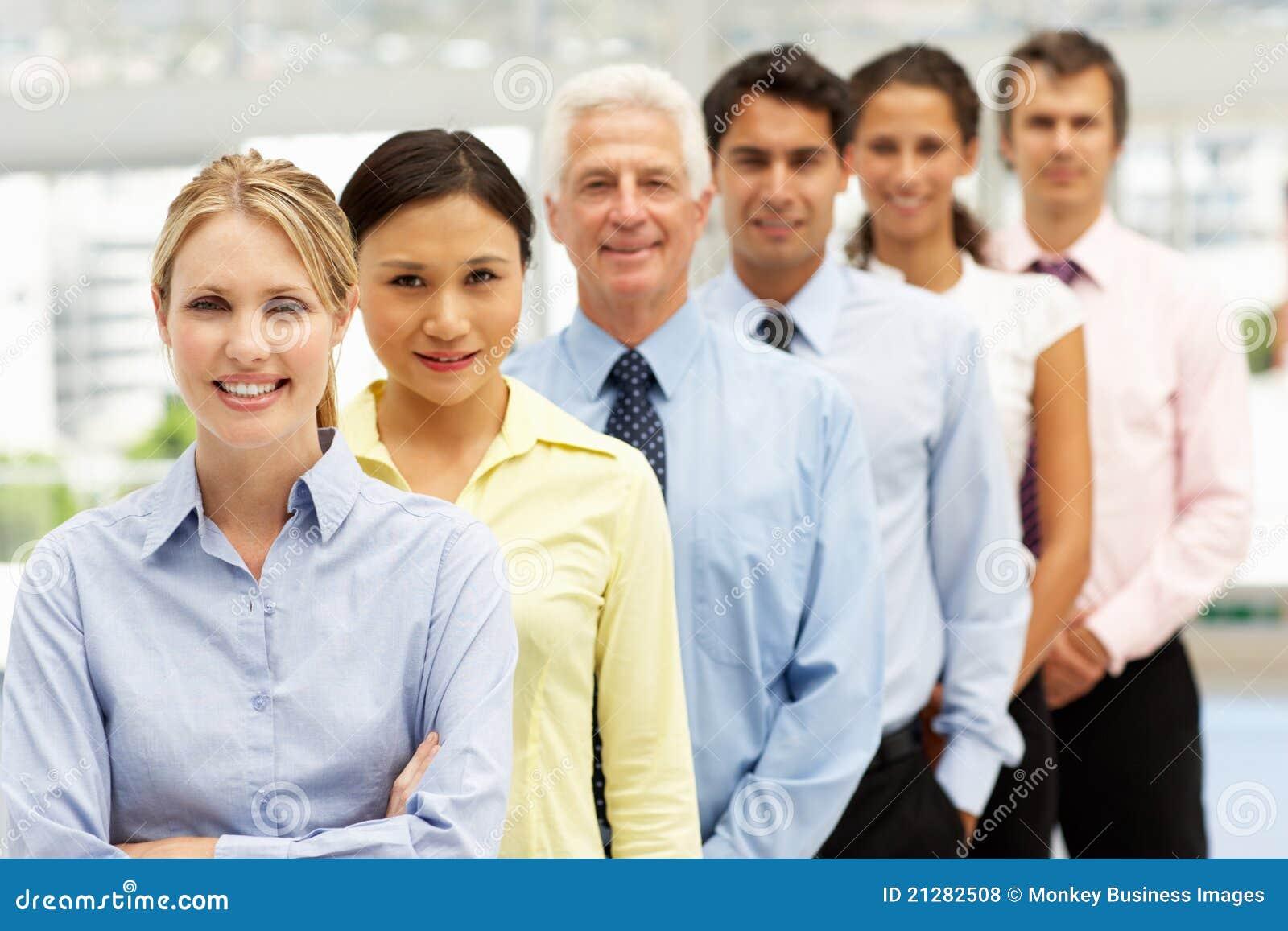 Mischgruppen-Geschäftsleute