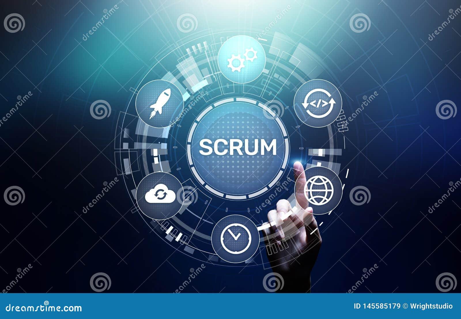 MISCHIA, metodologia agile di sviluppo, programmare e concetto di tecnologia di progettazione di applicazione sullo schermo virtu