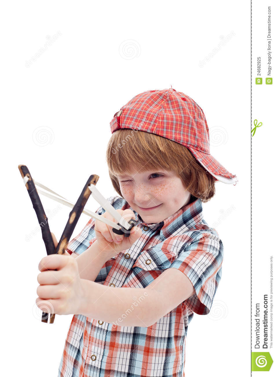 Http Www Dreamstime Com Royalty Free Stock Photo Mischievous Kid Aiming Sling Image24682925