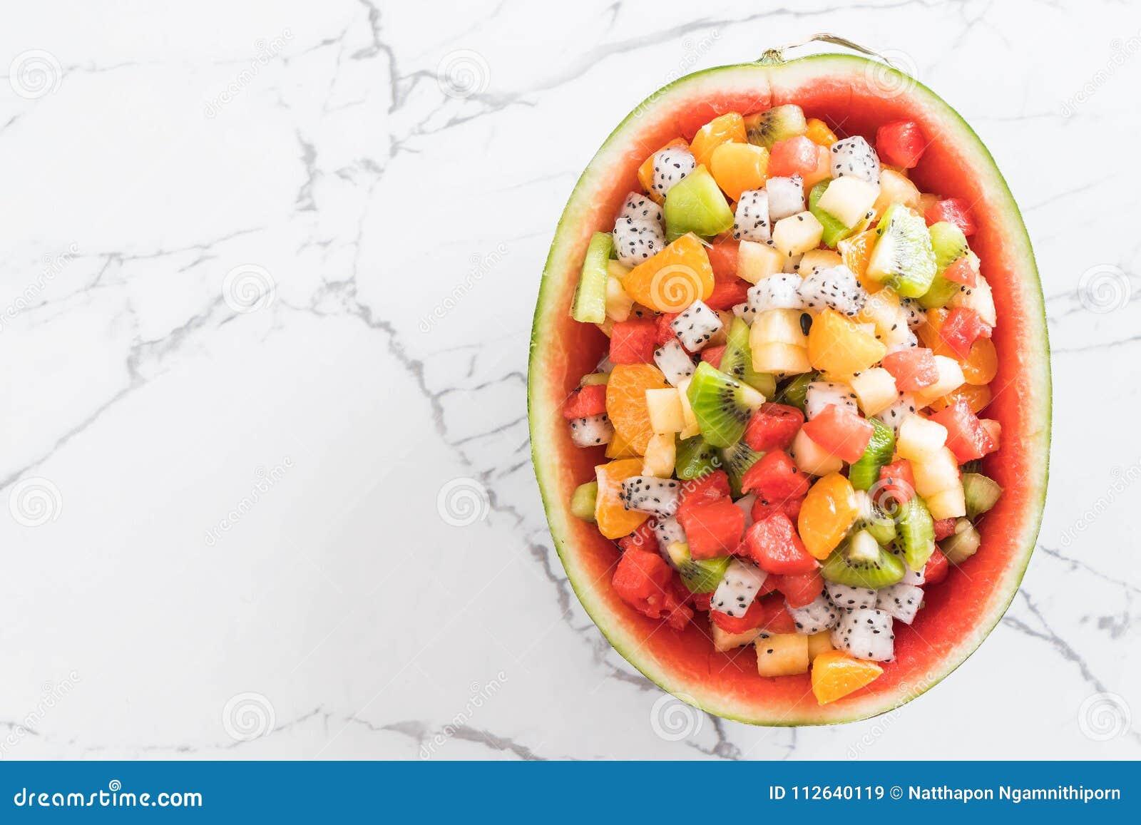 Mischung geschnittene Früchte