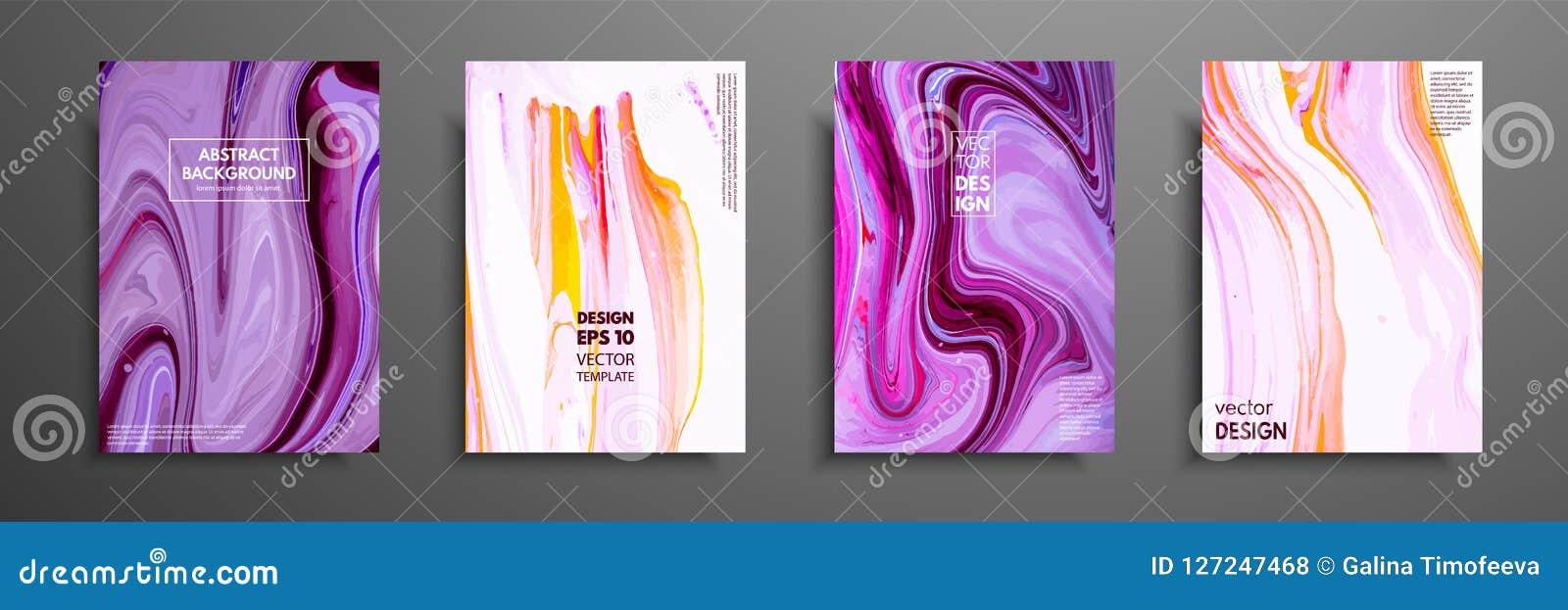 Mischung von Acrylfarben moderne Grafik Modisches Design Marmoreffektmalen Grafische Hand gezeichnetes Design für Abdeckung