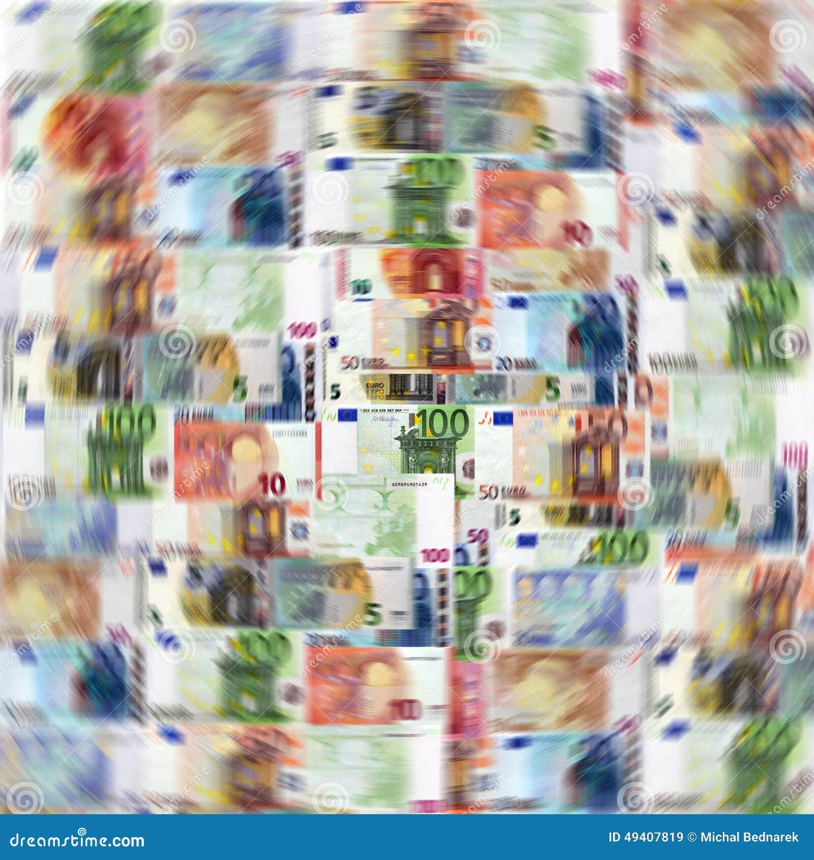 Download Mischung von Eurobanknoten stock abbildung. Illustration von hundert - 49407819