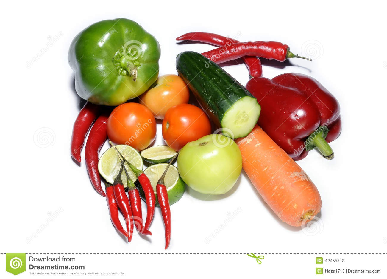 Mischungsgemüse lokalisiert auf Weiß