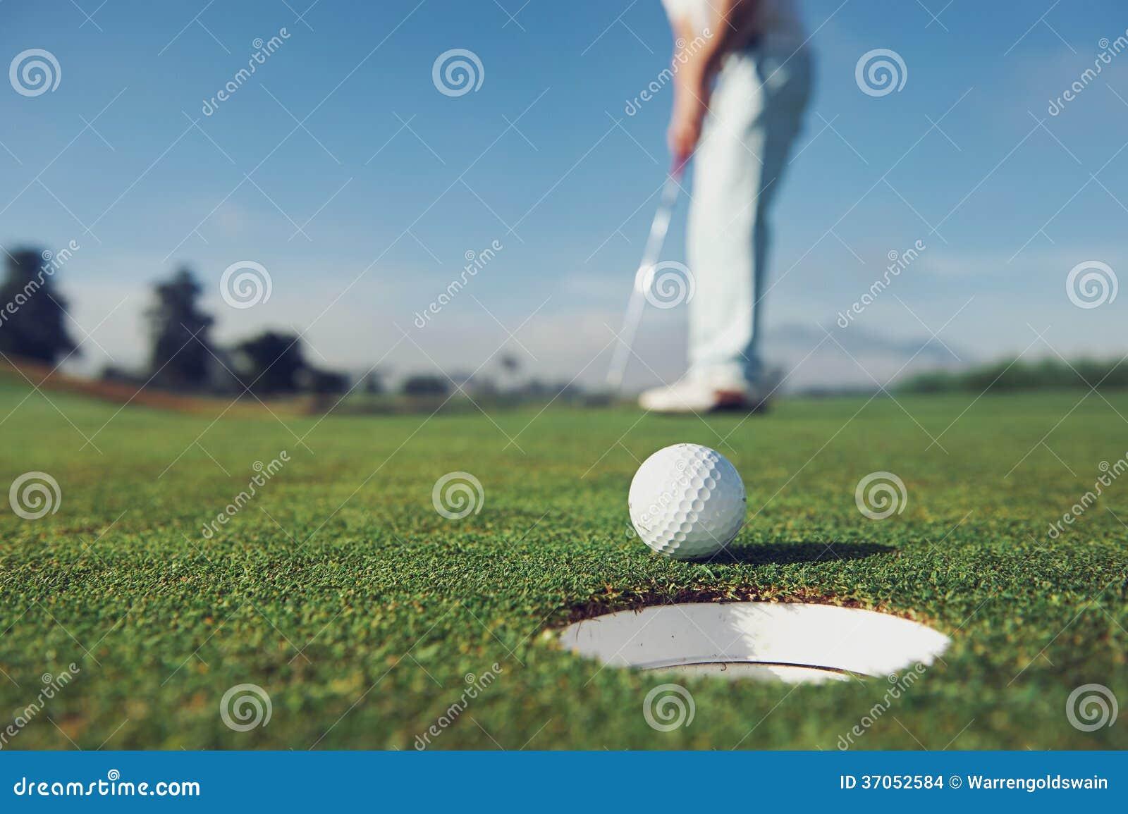 Mise de l homme de golf