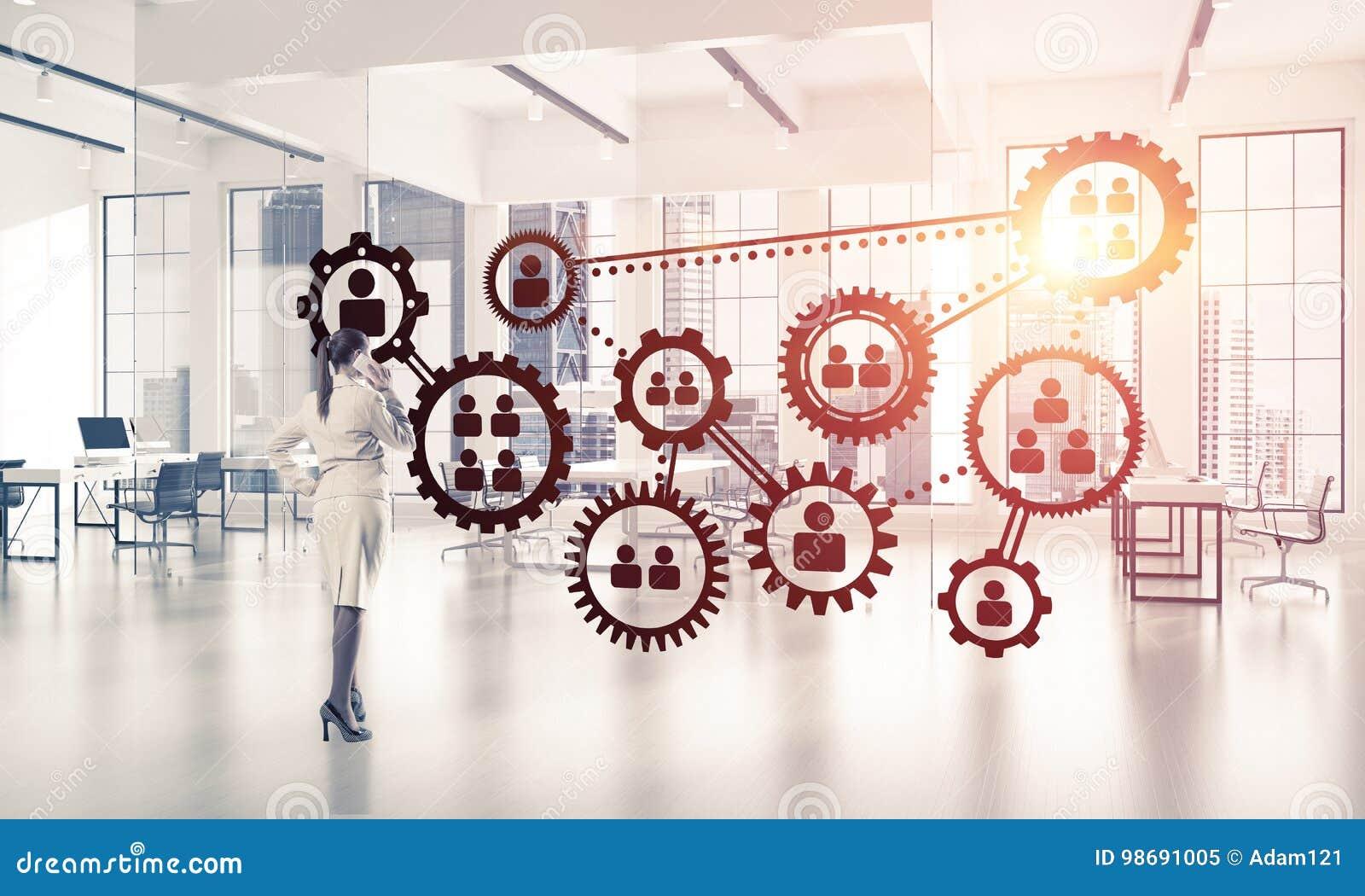 Mise en réseau et concept social de communication en tant que point efficace f