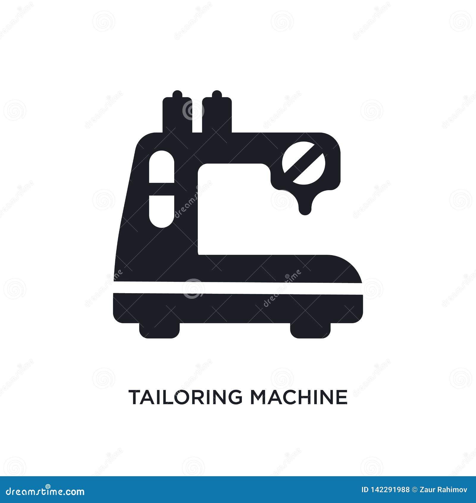 Mise sur pied de l icône d isolement par machine l illustration simple d élément de cousent des icônes de concept mise sur pied d