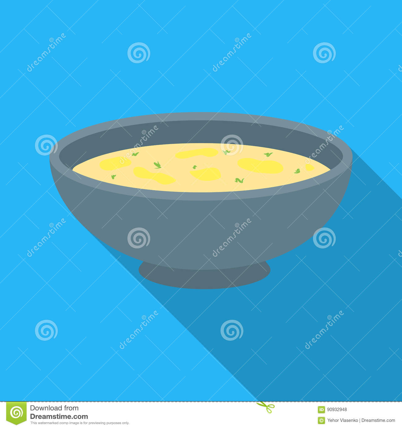 Miso soup icon in flate style isolated on white background. Sushi symbol stock vector illustration.