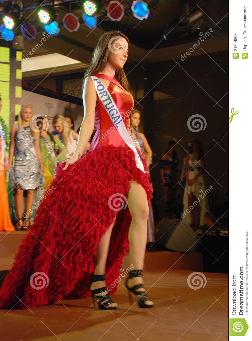 miss portugal wearing national costume editorial stock