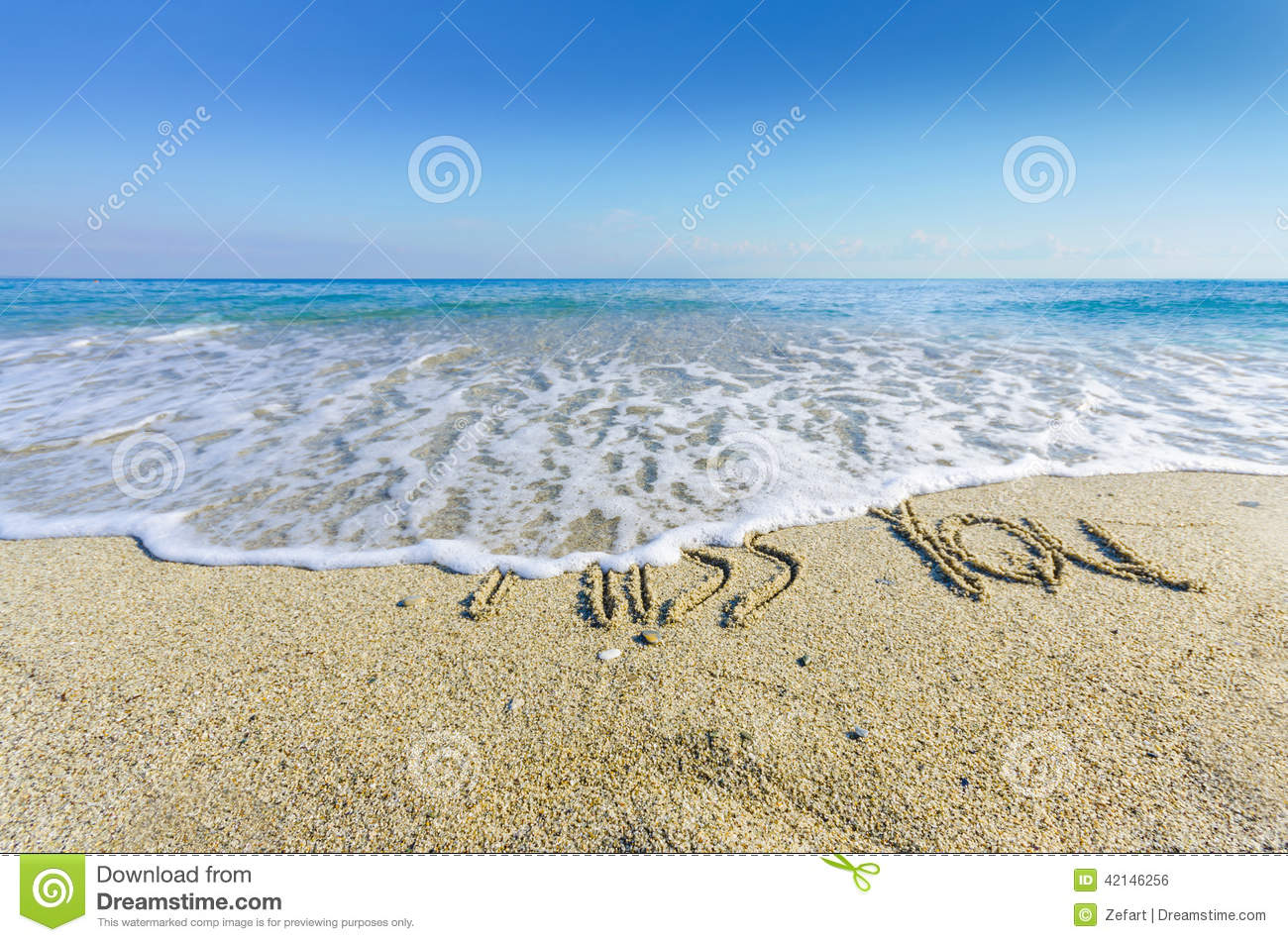 MISS YOU, Creative Abstract Graphic Message Stock Photo - Image: 42146256