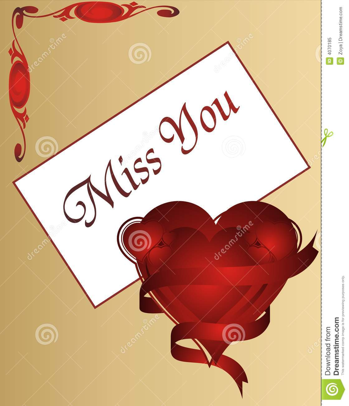 Miss you love card illustration stock illustration download comp m4hsunfo