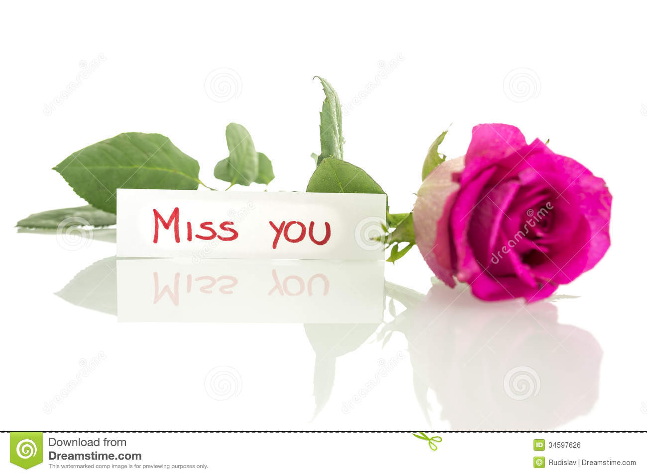 Miss You Message Royalty Free Stock Image - Image: 34597626