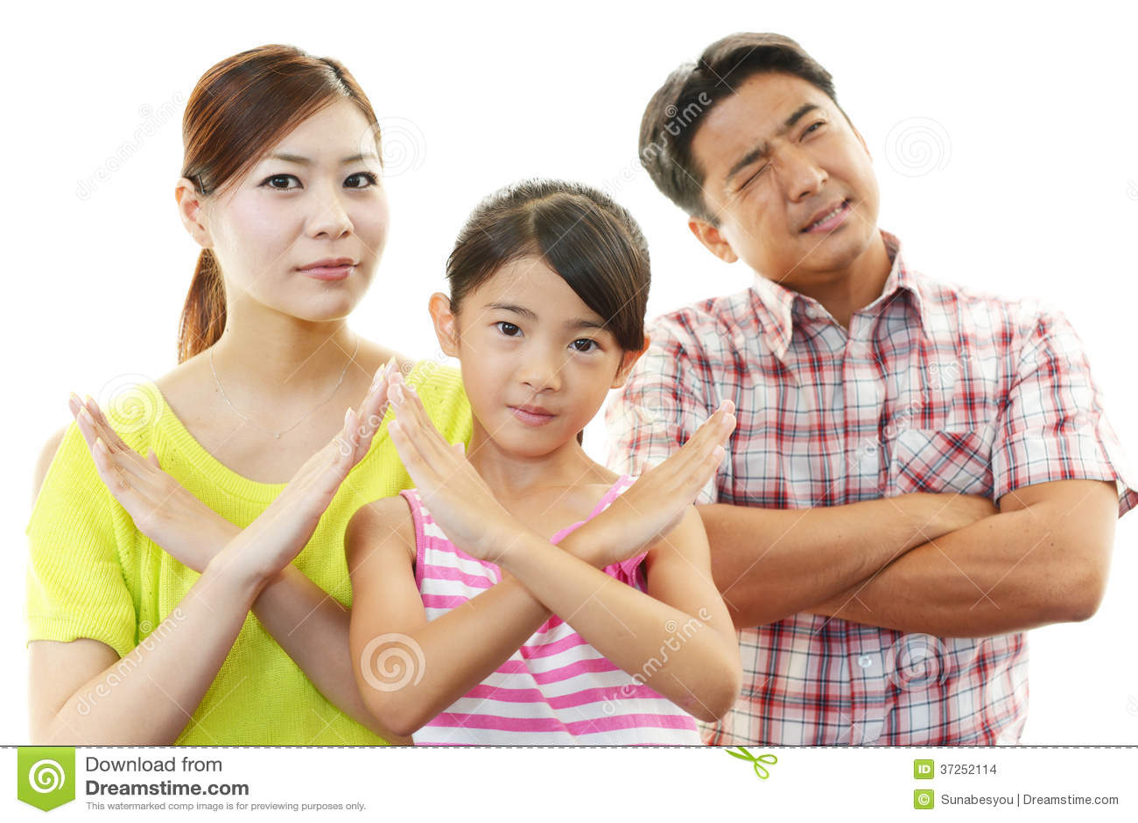 Missbelåten familj