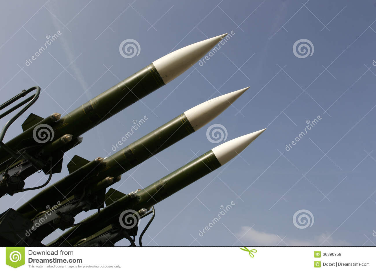 Download Missili militari fotografia stock. Immagine di sistema - 36890958