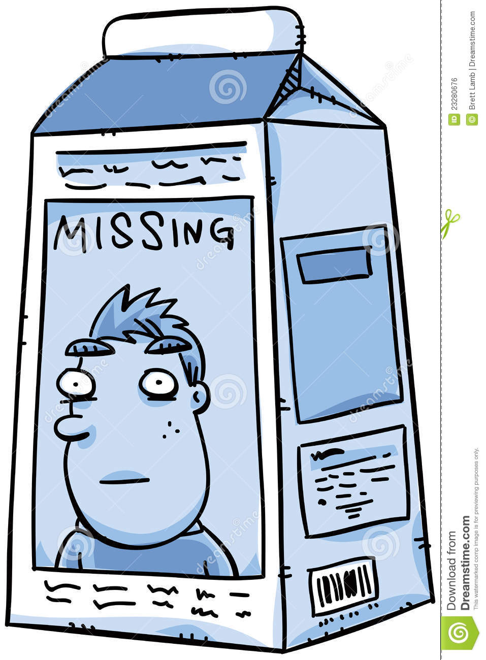 Missing Milk stock illustration. Illustration of object ...