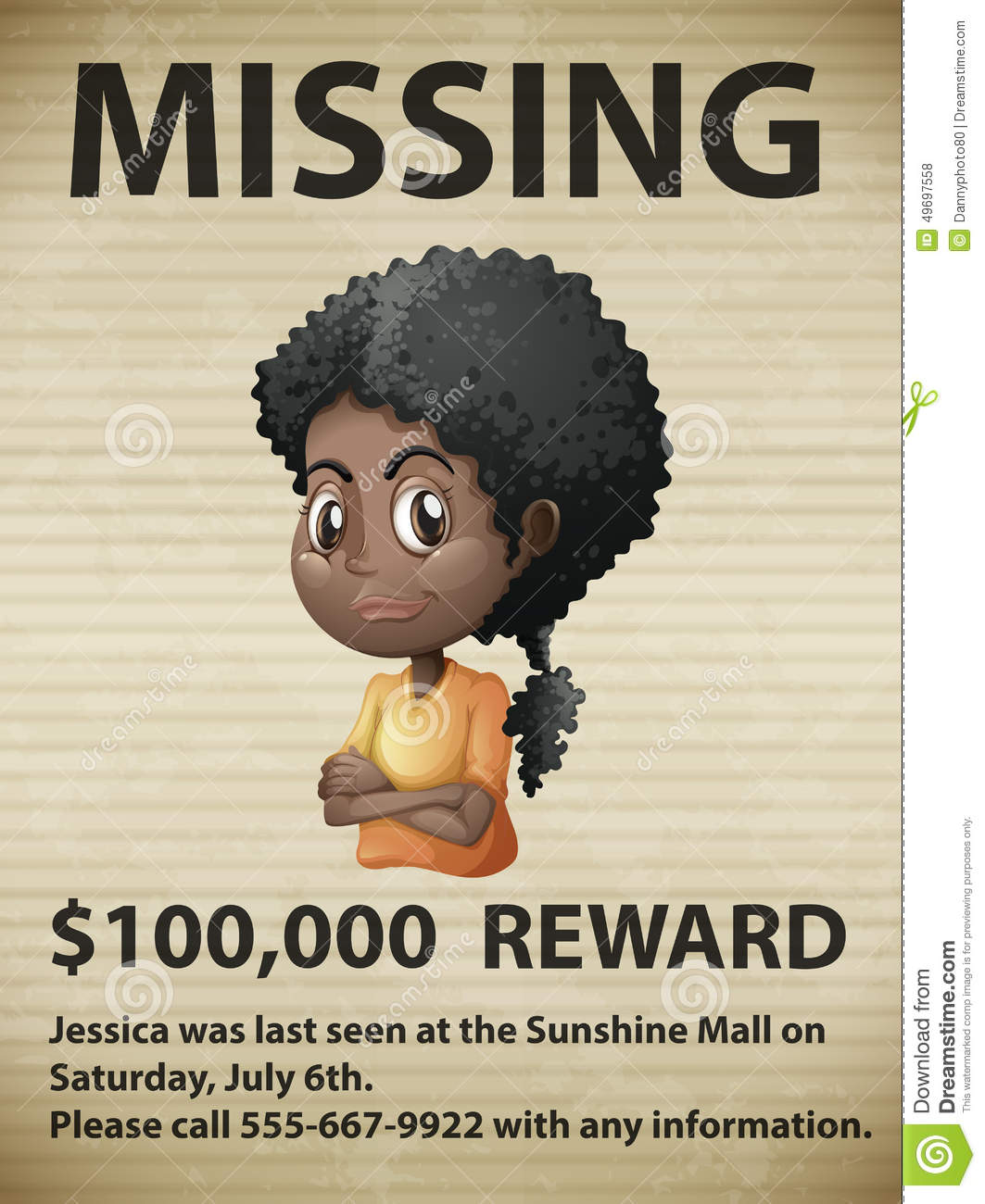 Missing Person  Lost Person Poster